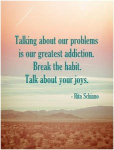talk about your joys