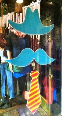 Fun window of a little boutique in Decatur, GA