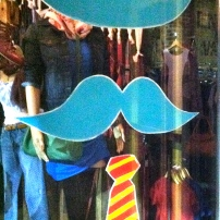 Fun window of a little boutique in Decatur, GA