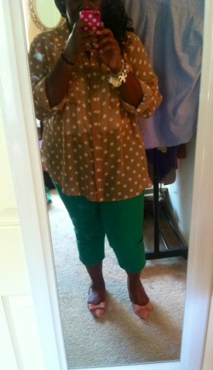 Old Navy blouse and pants