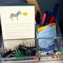 "Love me some office supplies. Zebra says, ""Get it done."""
