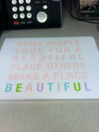 Mousepad/Notepad from Target