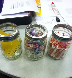 Who doesn't love candy in mason jars?