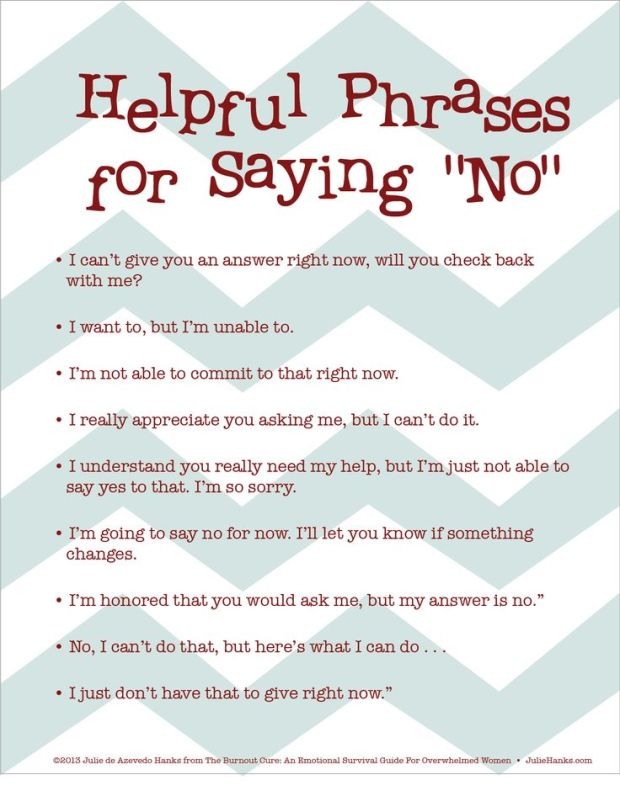 helpful ways to say no