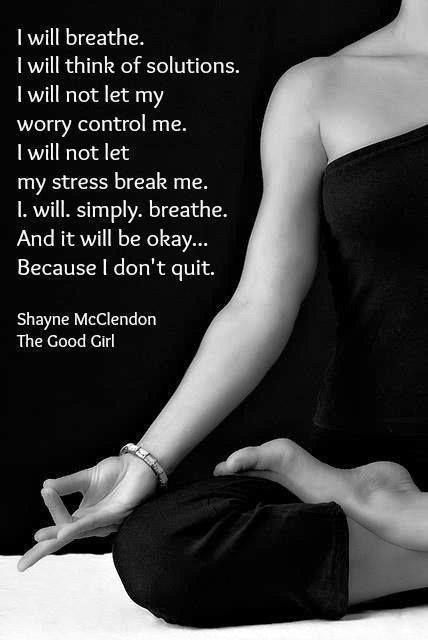 breathe and be okay